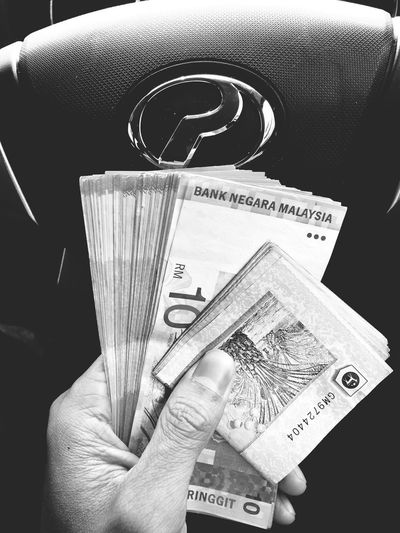 Cash on Hand. Cash Human Hand One Person Holding Hand Human Body Part Currency Paper Currency Indoors  Finance Business Real People Unrecognizable Person Close-up Finger Men Lifestyles Wealth Body Part Human Finger Obscured Face
