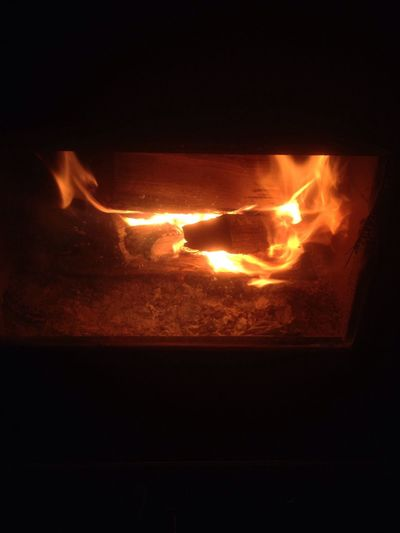 Morning fire to warm the achy bones lol Heat - Temperature Flame Close-up