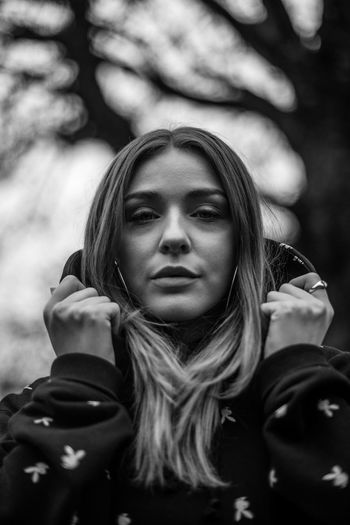 winter warmers Portrait Hair Young Women Young Adult Long Hair One Person Looking At Camera Lifestyles Leisure Activity Hairstyle Real People Front View Beautiful Woman Women Beauty Focus On Foreground Headshot Day Contemplation Documentary Photojournalism Blackandwhite