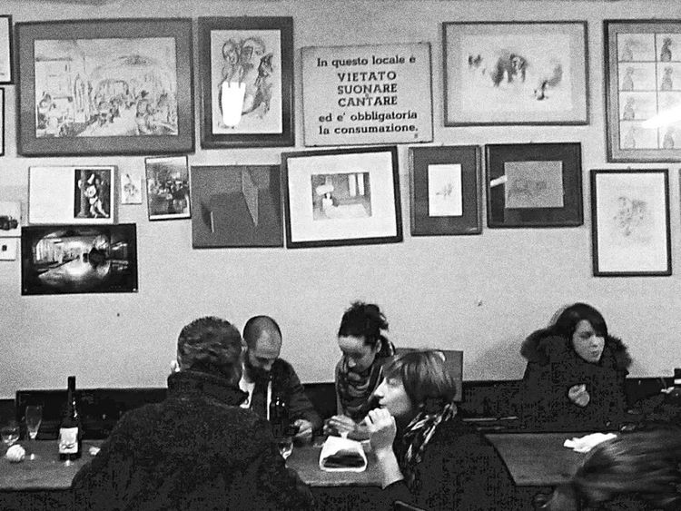 Arts Culture And Entertainment Sitting Photography Indoors  Friendship Women Restaurant Night Out Togetherness Adult People Diner Adults Only Bologna Night Real People Art Is Everywhere Old Grain PhonePhotography Phhhoto Eye4photography  Diversity Day
