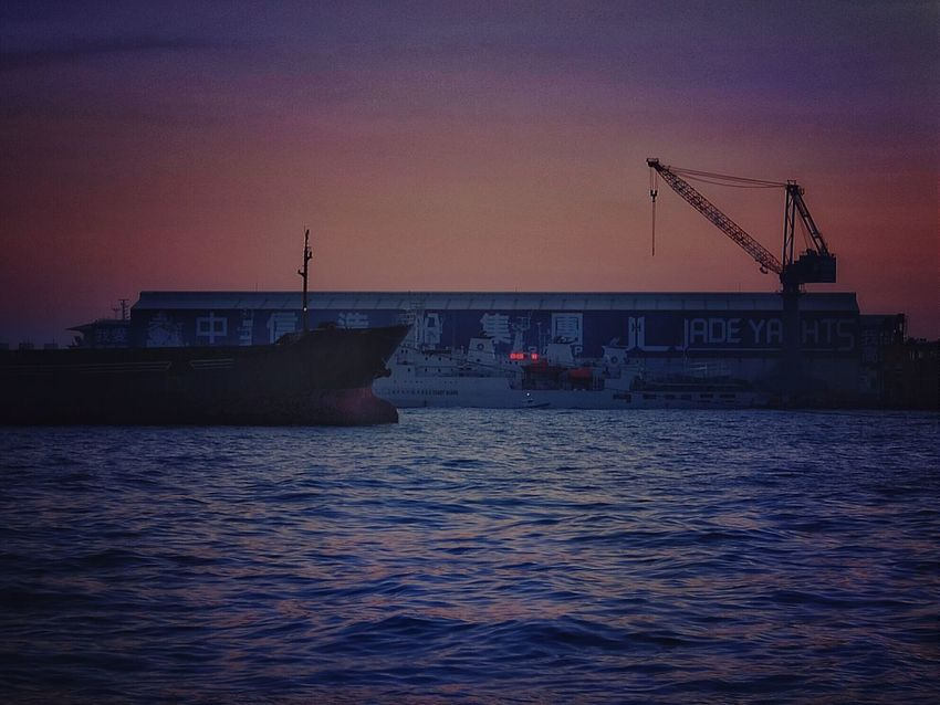 Q Quay Tanker Port Sunset Sunset Silhouettes Sky And Sea Streetphotography Streetphoto_color Eye4photography  Seaside Pastel Power Travel Photography 2015.12.02 at 高雄港 in 高雄市 Kaohsiung City Taiwan