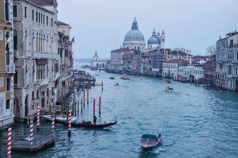 Architecture Water Sky Venezia Italia Canal Grande Ships On The Water Gondola - Traditional Boat Piazza San Marco Venezia City Landscape