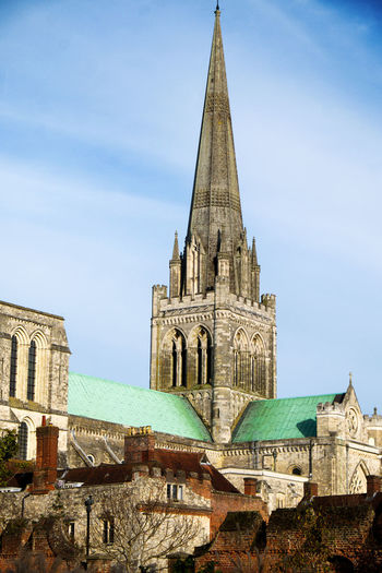 Cathederal Chichester Chichester Cathedral Church Ancient Architecture Architecture Bell Tower Building Exterior Built Structure Church Architecture Clock Tower Day History Low Angle View No People Outdoors Place Of Worship Religion Sky Spire  Spirituality Travel Destinations