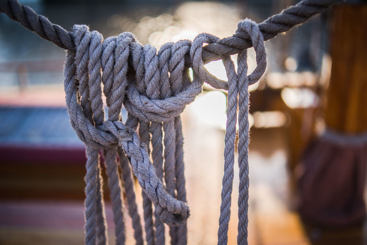 Close-Up Of Ropes