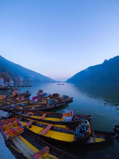 NAINITAL , India , 2018 Goprohero5 Goprophotography Gopro Travel Photography Travel Incredible India India Photography Landscape Landscape_photography Water Nautical Vessel Mountain Sky Mode Of Transportation Transportation Moored Scenics - Nature Nature Clear Sky Day Mountain Range High Angle View Beauty In Nature No People Tranquility Tranquil Scene Copy Space Lake Outdoors EyeEmNewHere It's About The Journey My Best Photo