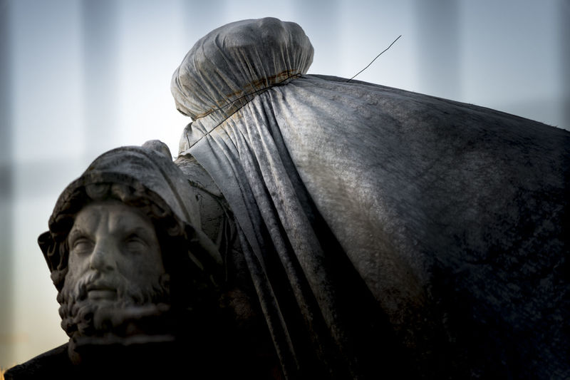 Close-up of statue against blurred background