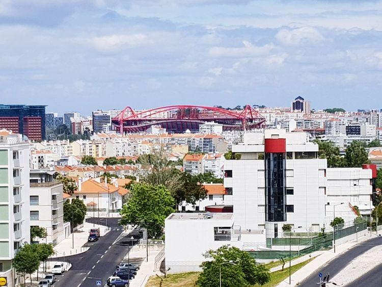Benfica City Sky Estádio Da Luz Benfica Stadium Benfica Outdoors No People Day Modern Cityscape