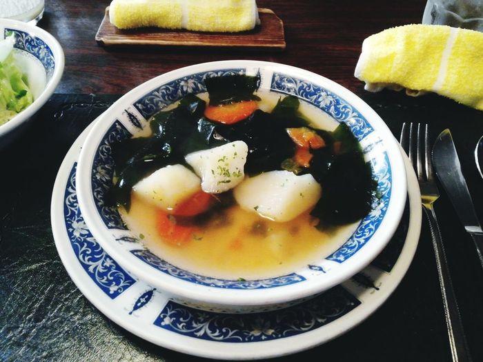 03272016 Lunch Time! 相模大野 小田急相模原 洋食 おさ 名店 野菜スープ ハンバーグを頼んだので150円 野菜たっぷりでgood