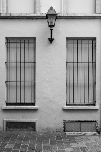 View of window on building