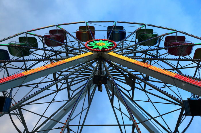 Natale 2017 Sicily Amusement Park Arts Culture And Entertainment Ferris Wheel Italy Low Angle View Messina No People Outdoors Ruota Panoramica Stretto Di Messina