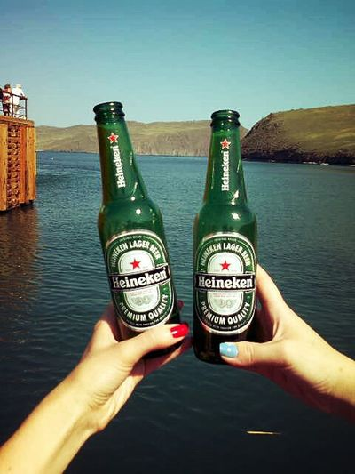 Before The Trip Starting A Trip Lake Baikal малое море мрс Go To The Olkhon Heineken Relaxing Drinking Beer