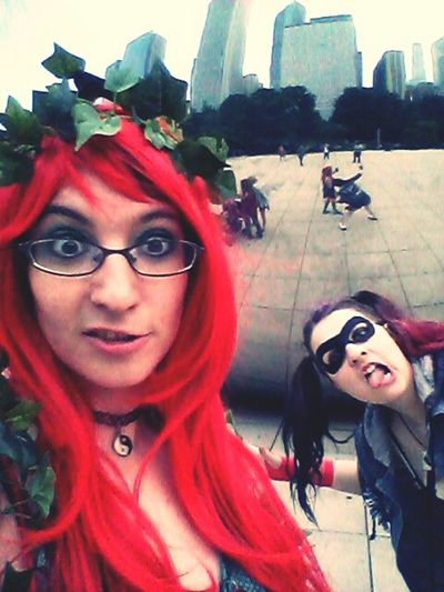 Chicago at the bean Being Goofy Harley And Ivy Hello World Streets Of Chicago