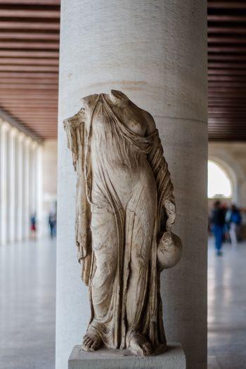 Greek sculpture almost posing Sculpture Athen Acropolis Greek Sculpture EyeEm Selects Representation Art And Craft Architecture Sculpture Focus On Foreground The Still Life Photographer - 2018 EyeEm Awards Creativity Human Representation Built Structure Incidental People Indoors  Architectural Column Statue Craft History Wall - Building Feature Day The Past Close-up Museum