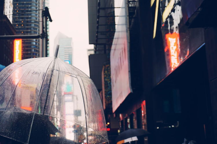 Rainy day at times square