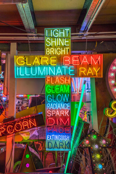 Neon signs and decorations at God's Own Junkyard in Walthamstow, London. Bright Christianity Colors Colourful Cross Neon Signs Bar City Lighting Communication Crucifix Illuminated Multi Colored Neon Neon Lights Religion Text Urban Urban Lighting