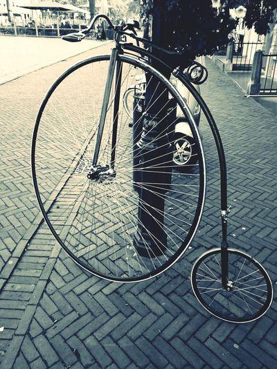 Retro Bicicleta Antiek Streetphoto_bw