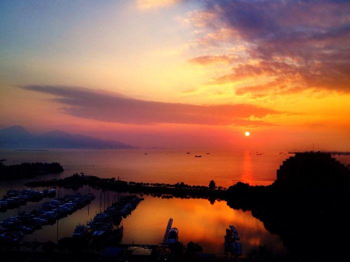 sunset at Hong Kong Gold Coast 香港黃金海岸 Sunset