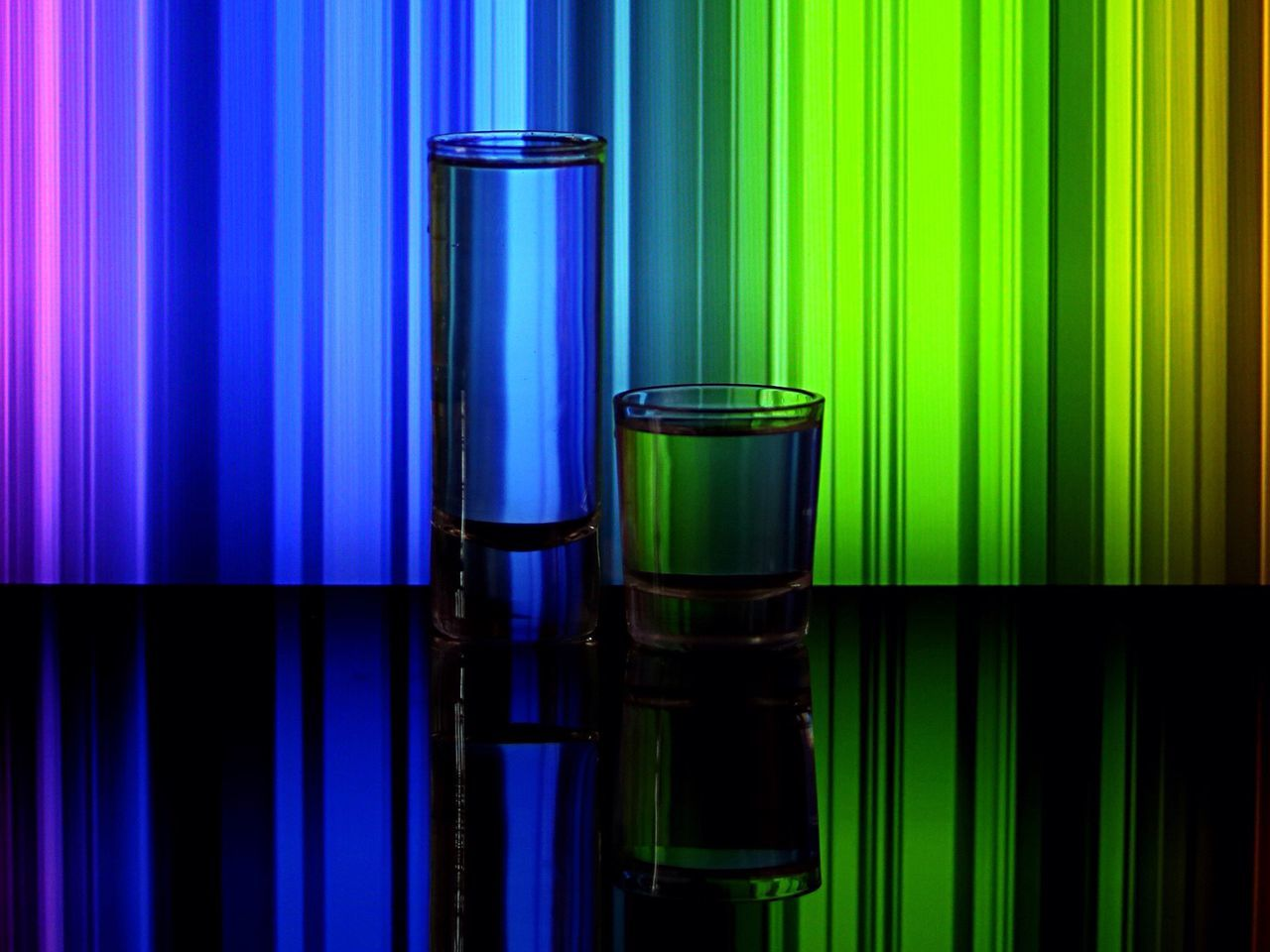 green color, no people, curtain, blue, backgrounds, multi colored, science, indoors, illuminated, close-up, scientific experiment, day