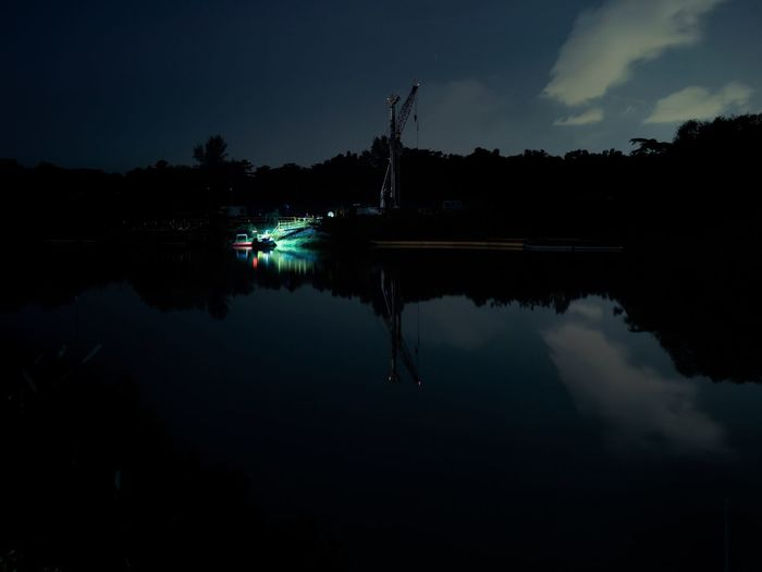 Dark Nature Night No People Reflection Tranquility Water