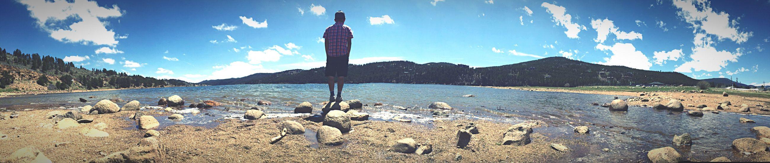 I don't even think my boyfriend knows i took this. Boyfriend❤ Nederland Colorado Lake View Mountains Adventure Nature Nederland Colorado