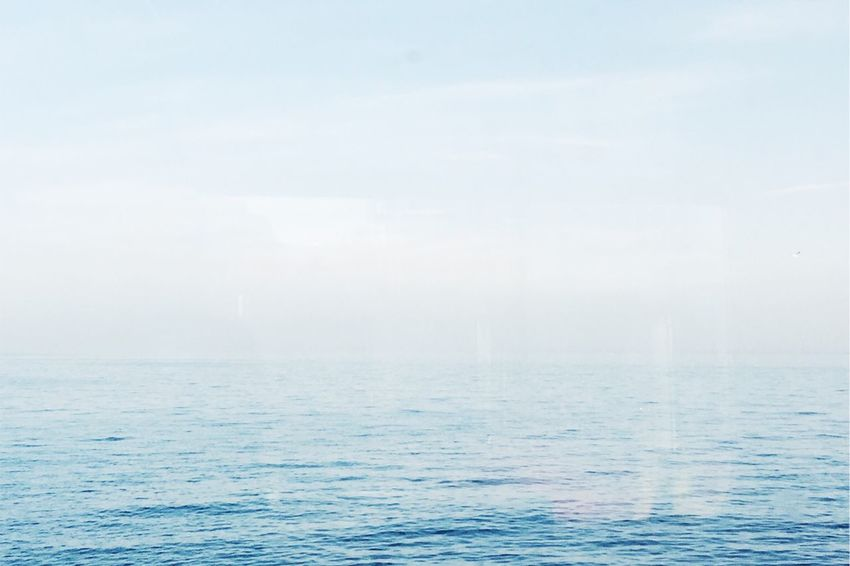 Backgrounds Beauty In Nature Blue Cloud - Sky Day Fog Horizon Horizon Over Water Minimal Minimalism Minimalobsession Nature No People Outdoors Scenics Sea Sky Sunlight Tranquil Scene Tranquility Water