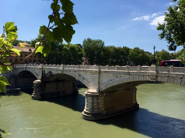 Bridge on Tevere. Landscape Rome River Bridge Ancient Architecture Traveling IPhoneography Nature