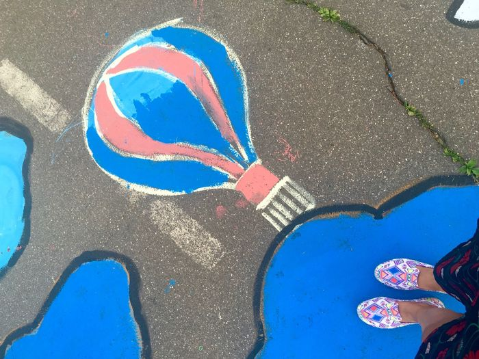 Street Art Asphalt Blue Feet Feetselfie Foot Footpath High Angle View Moscow Life Outdoors Personal Perspective Shoe Standing Street The Magic Mission Art And Craft Standing Creativity City Women Shoe Body Part Lifestyles Summer In The City #urbanana: The Urban Playground