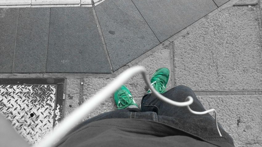 From Where I Stand Things That Are Green Soistberlin  Auf Die Sbahn Warten
