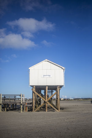 Architecture Balticsea Restroom Travel Architecture Beach Blue Building Built Structure Clouds Day Landscape Nature No People Outdoor Outdoors Relax Sand Sea Sky