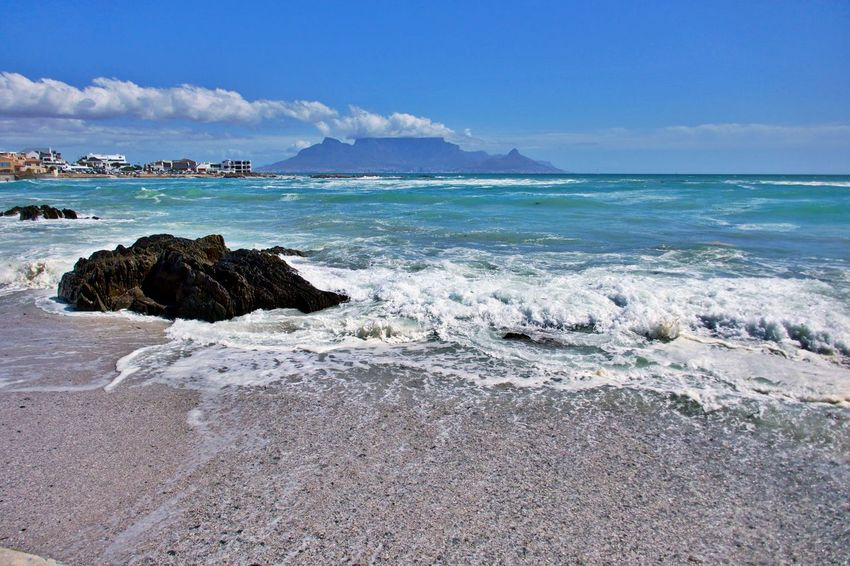 Sea Land Water Beach Rock Beauty In Nature Scenics - Nature Wave Horizon Over Water Outdoors Nature Cloud - Sky Cape Town