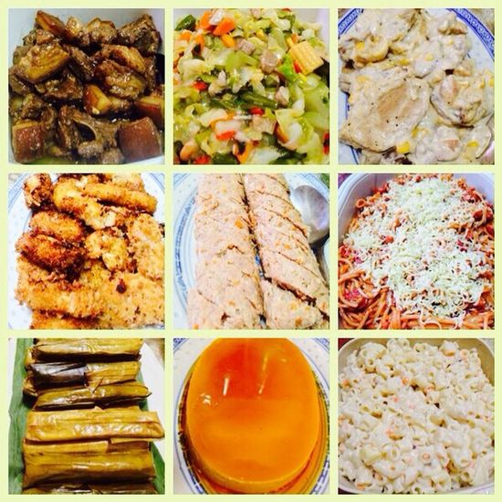 Yesterday night's menu at my not-so-little you ger brother, Derrick's bithday celebration. ? Hanging Out Hello World