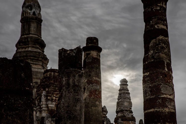 View of old temple against sky