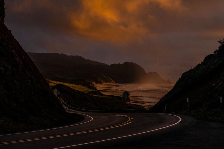Oregon pacific highway senset
