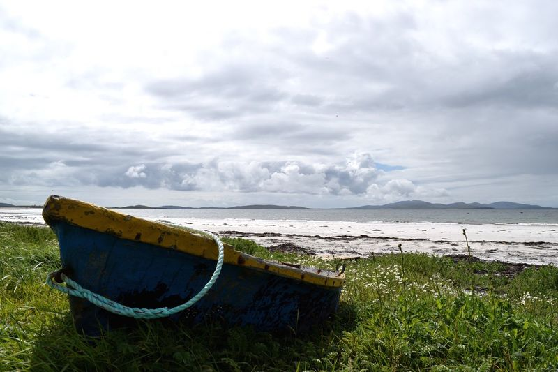 Transportation Outer Hebrides Rope Outdoors Rowboat Beach Beach Photography Outer Hebrides Hebrides Scotland Boat