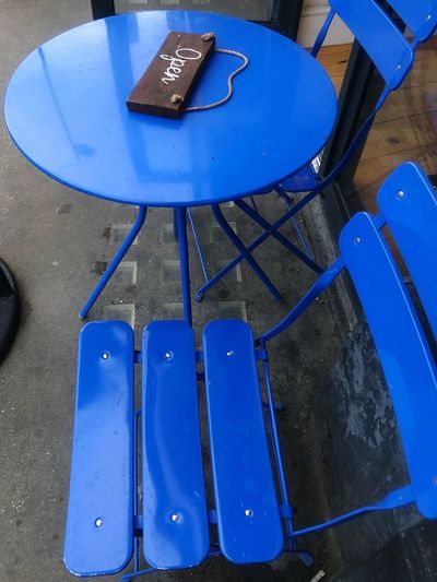blue chair and