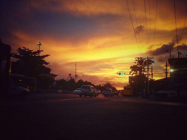 Sunset Sunset City Water Sky Cloud - Sky