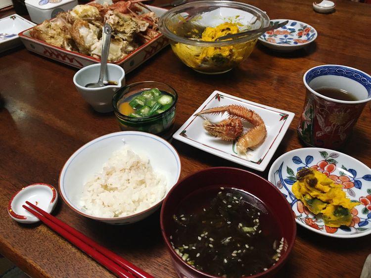 カニさん食べた( ˙༥˙ ) Dinner Eating Yummy Yumyum( ˙༥˙ ) Delicious Crab Taking Photos