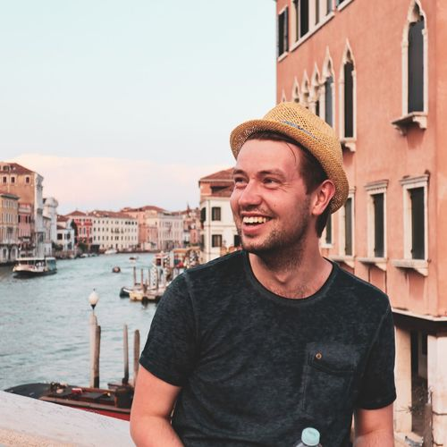 Me in venice EyeEm Selects Gondola - Traditional Boat City Nautical Vessel Water Smiling Portrait Men Cheerful Happiness Individuality Gondolier Grand Canal - Venice Straw Hat Venice - Italy Tourist Visiting Veneto Gondola Canal Venetian Lagoon Rowing Coast Water Vehicle Sun Hat City Break