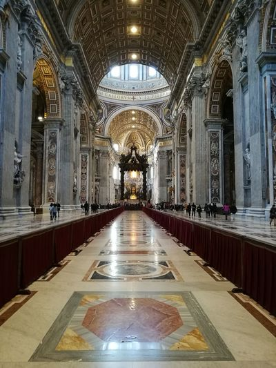 Historical Building History Built Structure Prospective Basilica Di San Pietro In Vaticano Pictureoftheday View Travel Destinations Travel Amazing View Amazing architecture NoEditNoFilter Italy Beautiful Basilica Picoftheday Vatican City Amazing Indoors  Religion Ceiling Arch Place Of Worship Architecture Spirituality One Person People Day