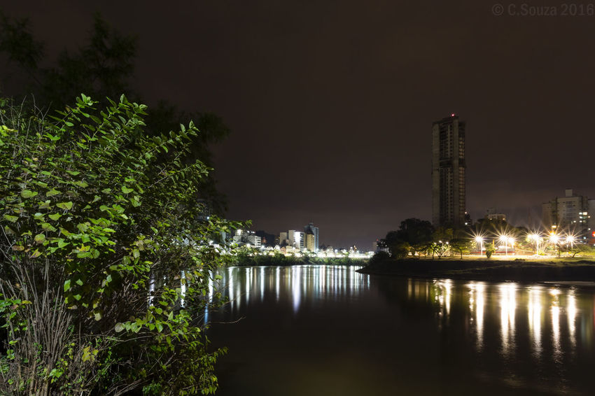 Architecture Blumenau Built Structure Cidade Iluminada City City Life Illuminated Modern No People Outdoors Praça Iluminada Reflection Rio Rio Itajaí-Açu River Water