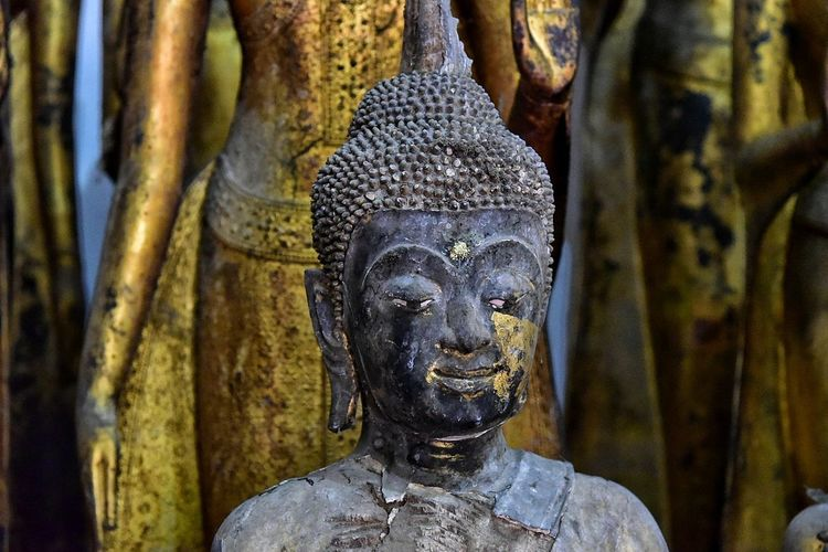 Statue Religion Sculpture Spirituality Gold Idol No People Close-up Day Ancient Civilization Outdoors