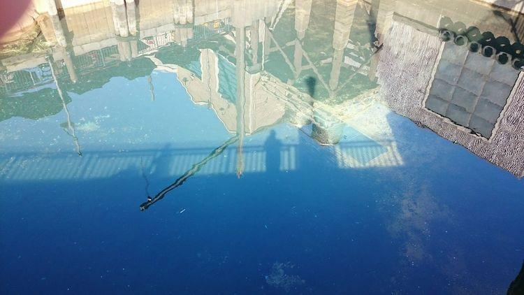 Reflection Outdoors Architecture Water Disney California Adventure Bridge Over Water