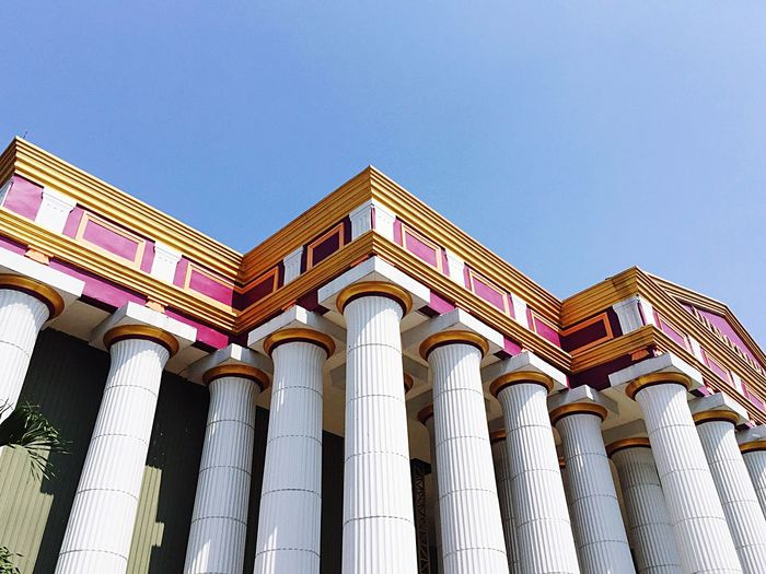 Low angle view of columns of building