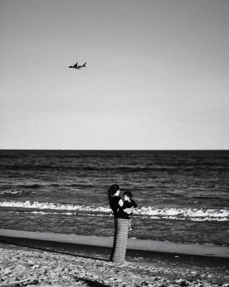 - True Love Beach NYC Eye4photography  EyeEm Gallery Portrait Photography Black And White Portrait Blackandwhite Photography Bnw_collection Blackandwhite Travcimages Photooftheday Valentine's Day  Love Sea Water Horizon Over Water Horizon Sky Beach Real People Scenics - Nature 17.62°