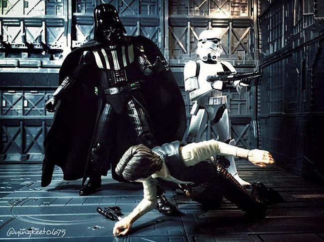 """Vader : """"You will tell surrender young Skywalker to me Solo!"""". ................................................................ MafexVader Mafexdarthvader Starwarstheblackseries Starwarsblackseries Starwars Hansolo Scruffylookingnerfherder Starwarstoyfigs StarWars6inch Starwarsphotography Stormtrooper Starwarsalternativeepisodes HasbroStarWars Hasbroblackseries"""