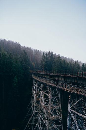 Bridge against clear sky