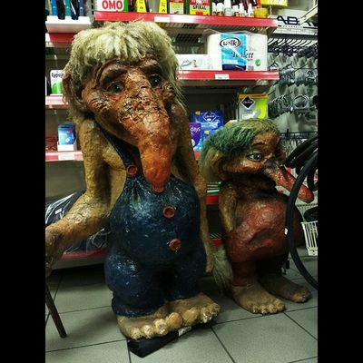 Finally found some Trolls in Norway In a gas station... WreckinRjukan Rjukan norwayproblems