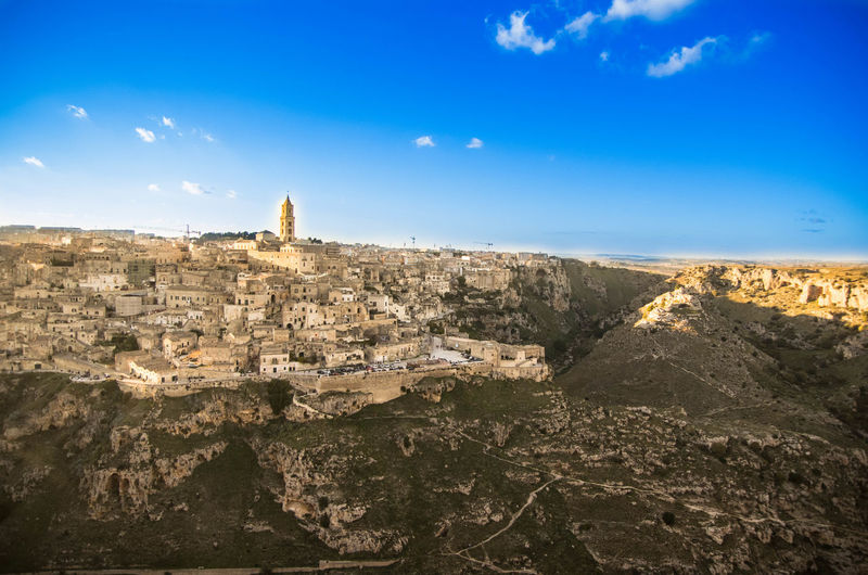Architecture Building Exterior Built Structure Day Landscape Matera Nature No People Outdoors Sky Sunlight Travel Destinations