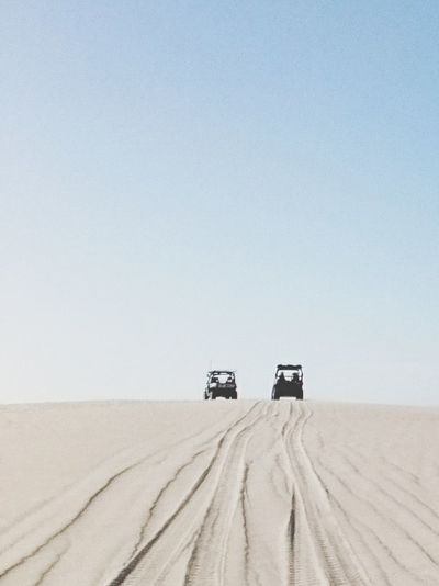 Desert Sand Clear Sky Blue Sand Dune Sky Off-road Vehicle 4x4 Landscape Arid Climate Land Vehicle No People Outdoors Beauty In Nature Day Nature XperiaZ5 Wagoe Beach Australia Dunes Quad Biking