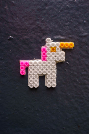 Bügelperlen Unicorn Capsule Healthcare And Medicine Ministeck
